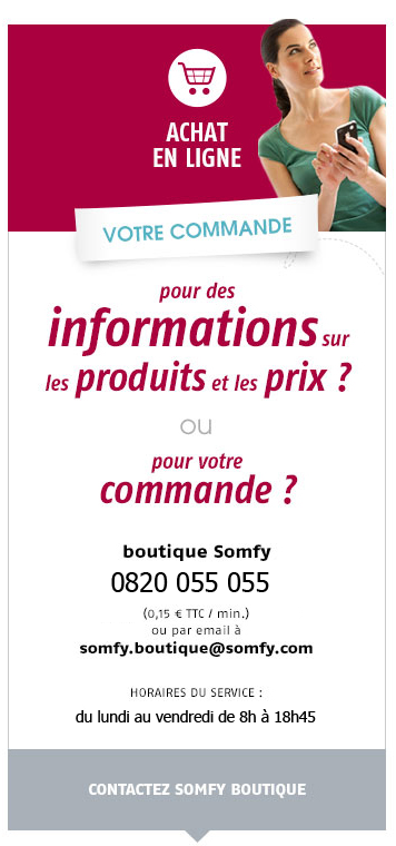 Contacter Somfy Boutique