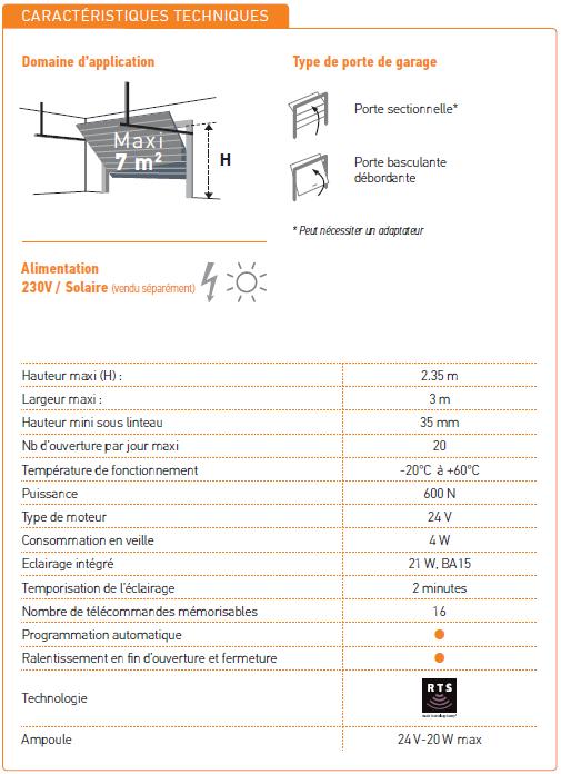 motorisation porte de garage gdk 700 somfy 2401440. Black Bedroom Furniture Sets. Home Design Ideas